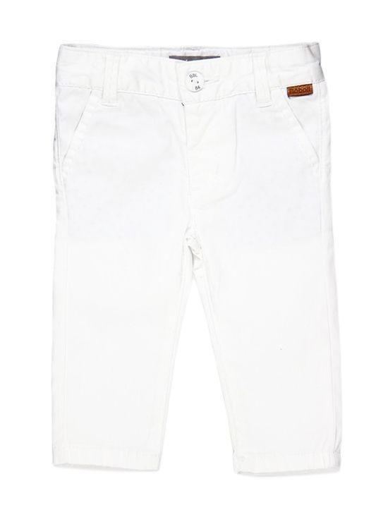 Boboli White Cotton Trousers