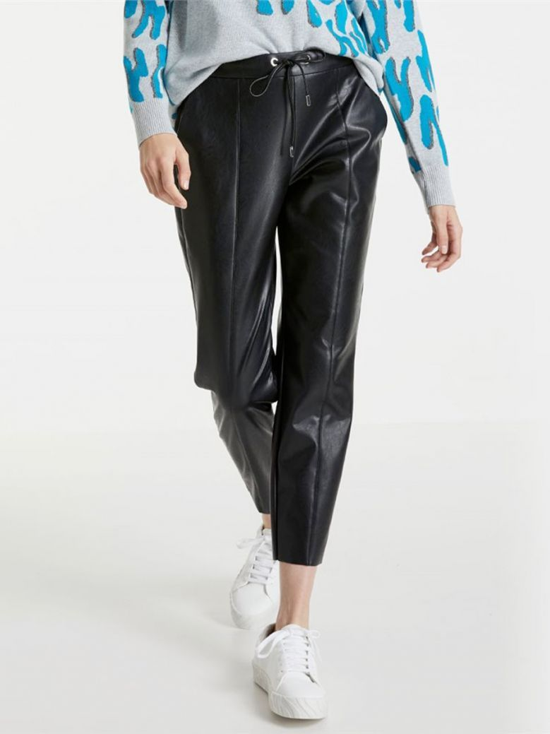 Taifun Ladies Glacier Blue Leather Look Lounge Pants
