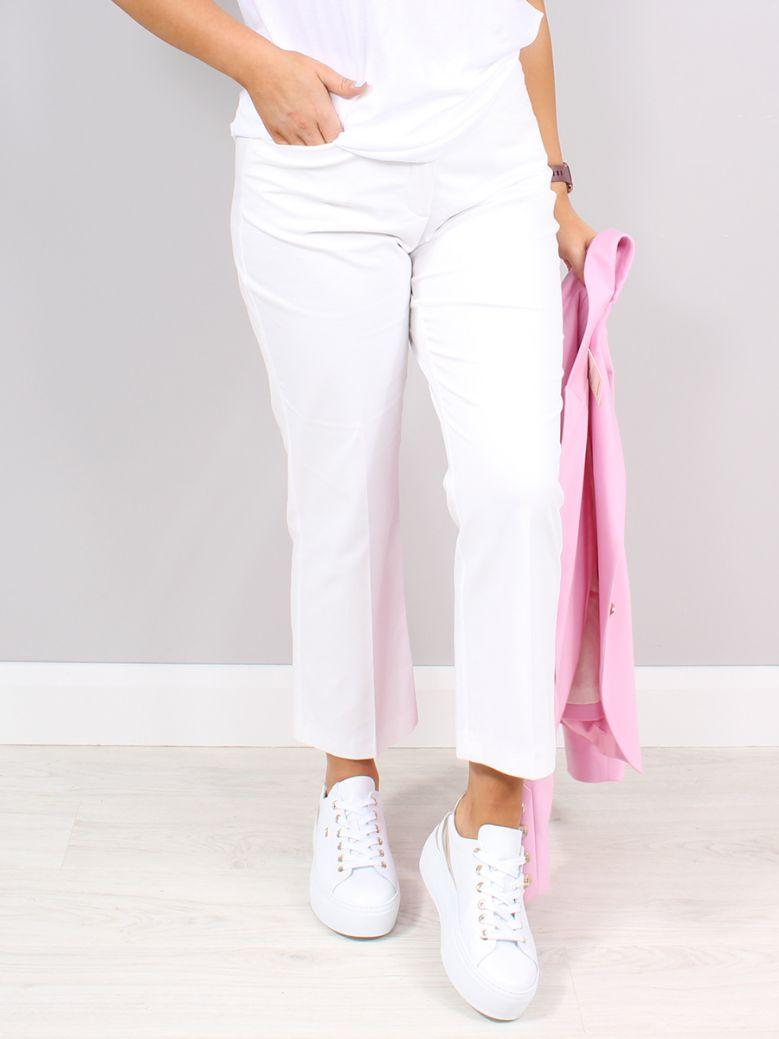 Taifun White 7/8-Length Straight High-Rise Trousers