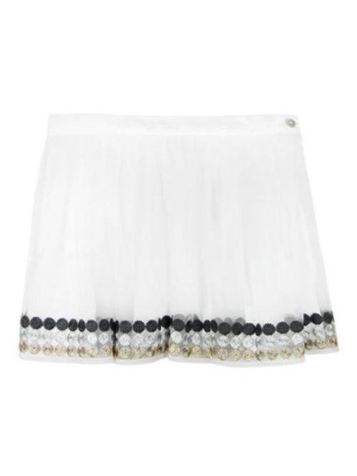 Boboli White Tulle Skirt