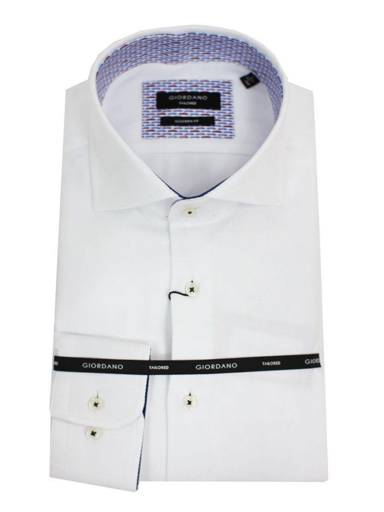 GIORDANO White Modern Fit Shirt