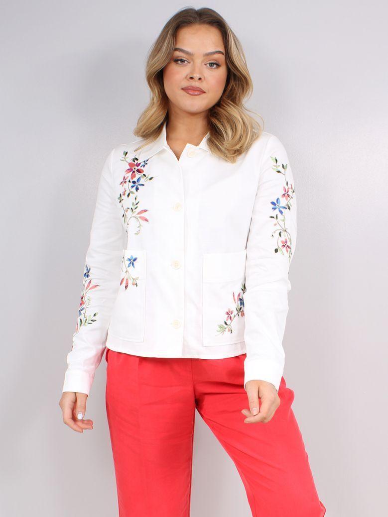 Taifun White Floral Print Jacket