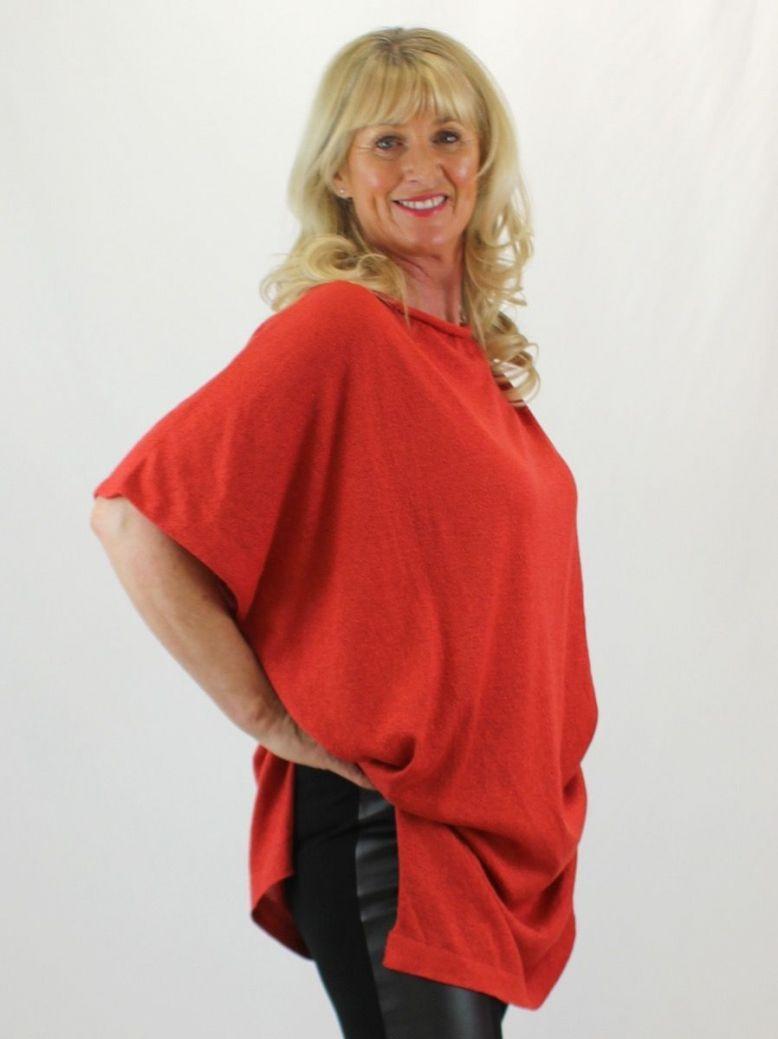 Mat Red Short Sleeve Tunic