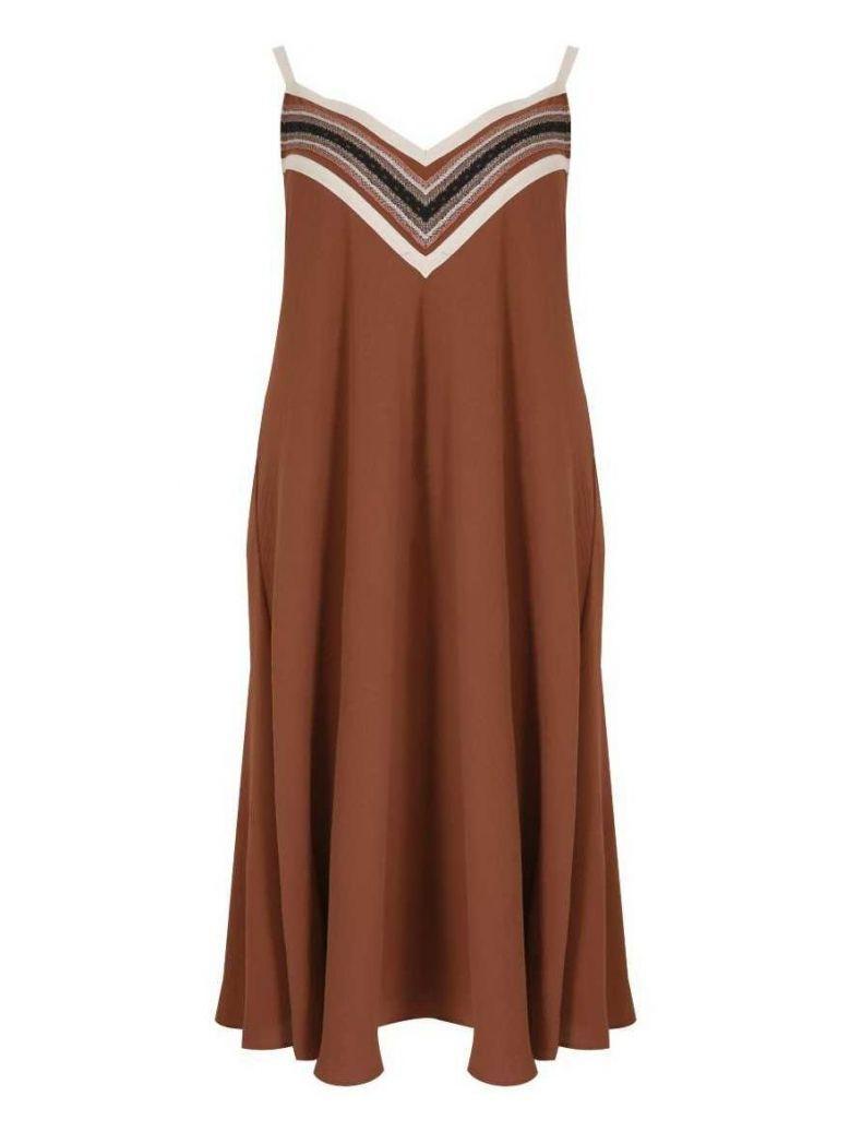 Mat Tan Sleeveless Slip Dress
