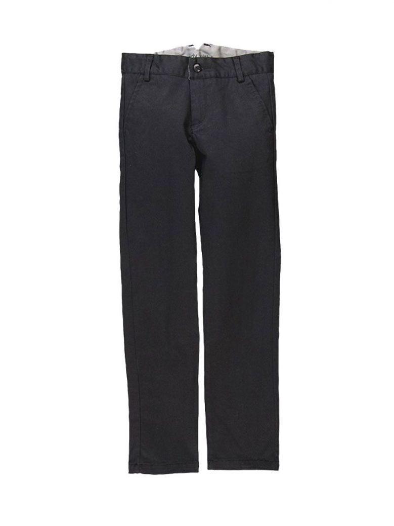 Boboli Black Stretch Satin Trousers