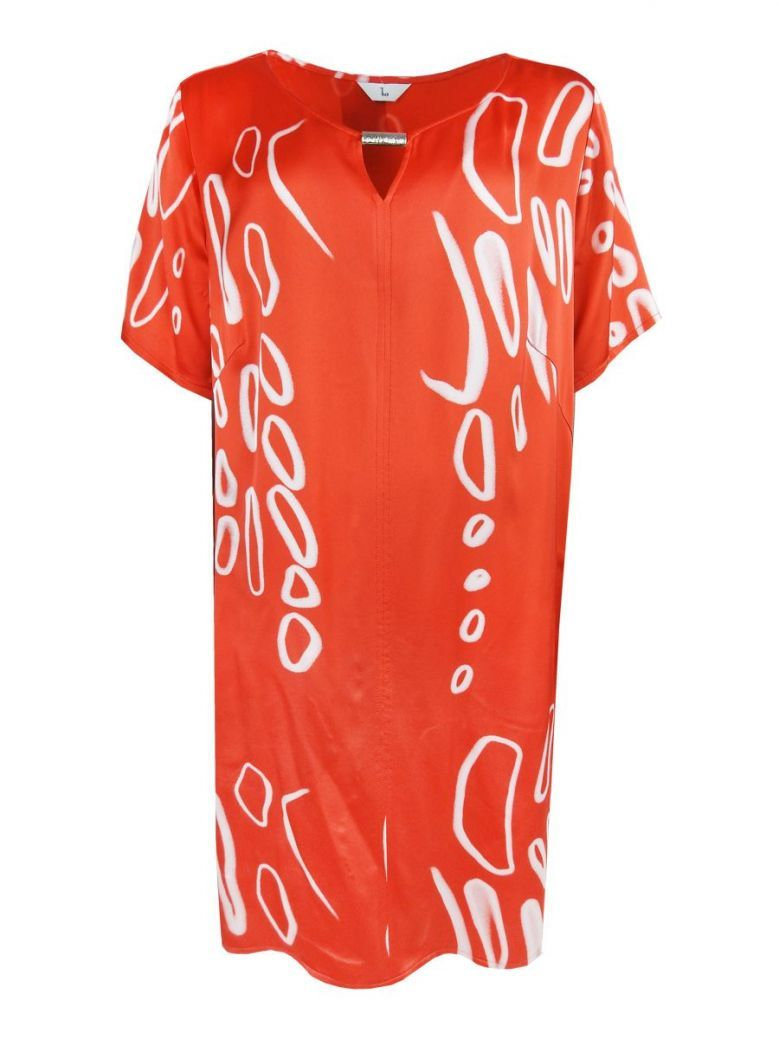Tia Coral Keyhole Neck Tunic Dress