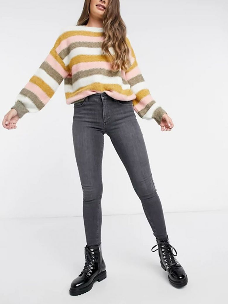 French Connection Charcoal Rebound Skinny Jeans