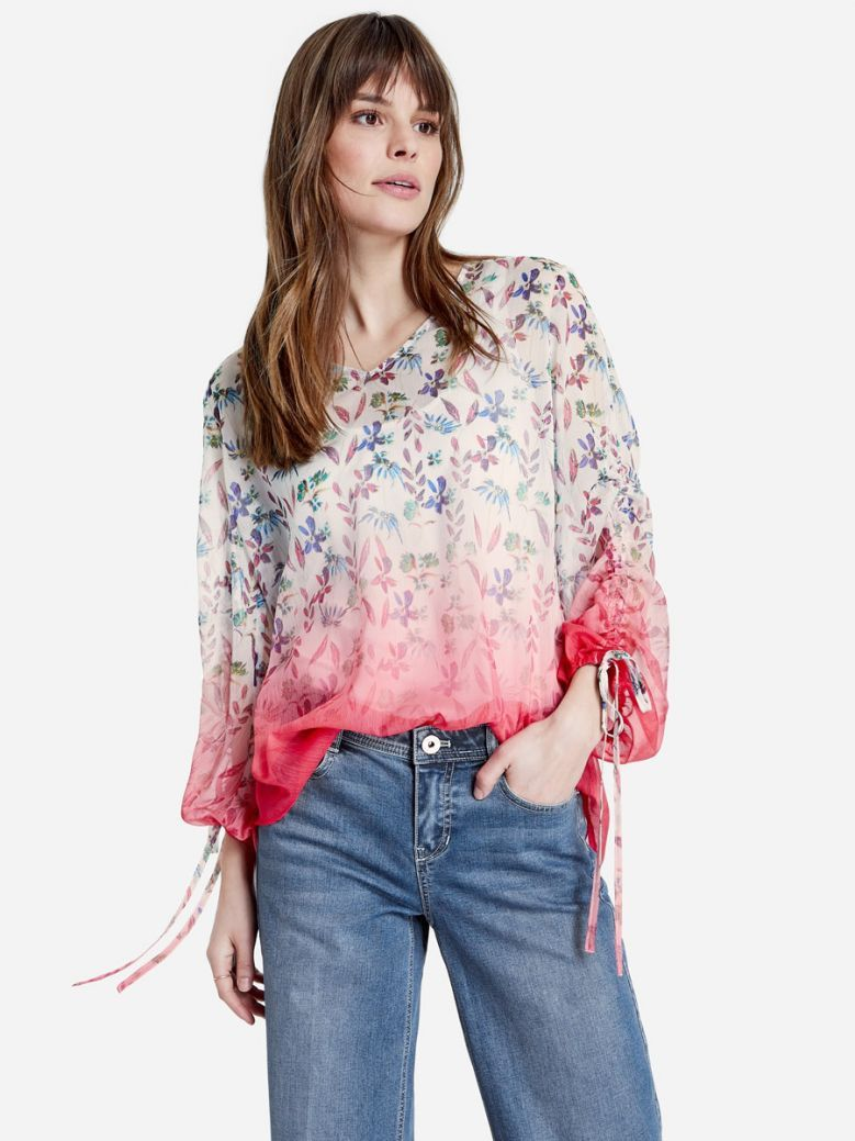 Taifun Ladies Multicoloured 2-in-1 Blouse with Floral Print