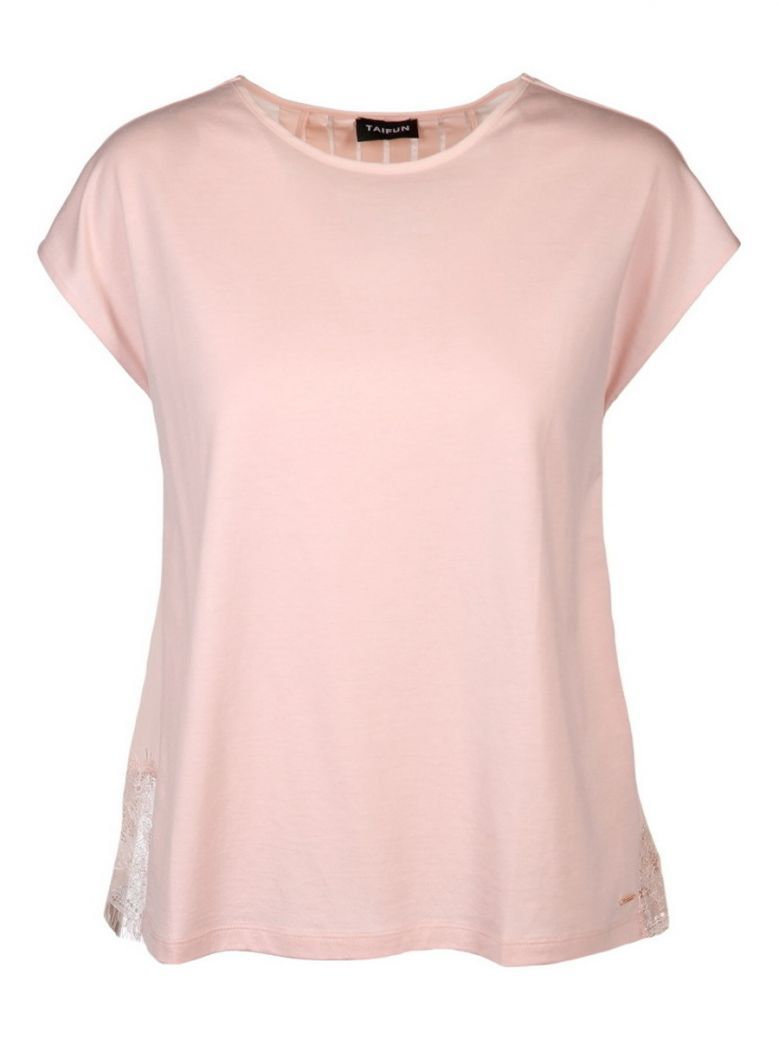 Taifun Ladies Pink Top with Pleated Back