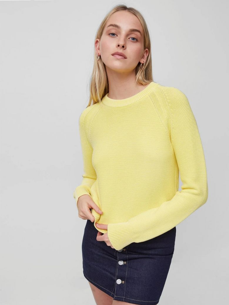 French Connection Bright Daffodil Lilly Mozart Jumper
