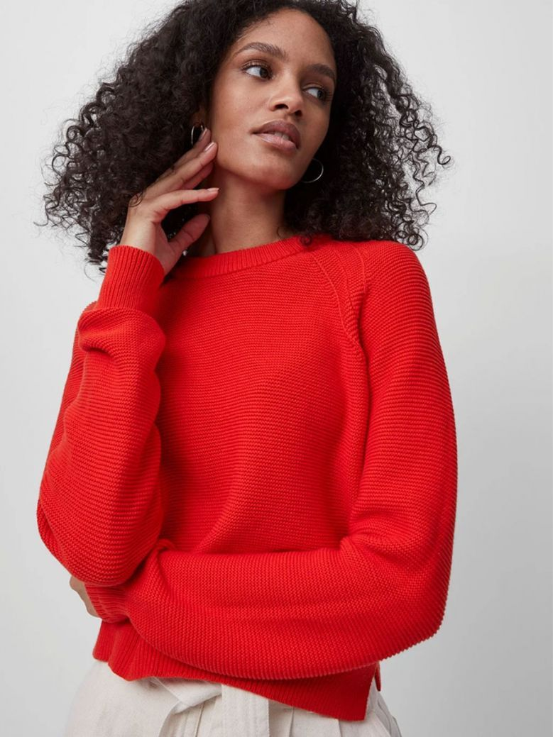 French Connection Fiery Red Lilly Mozart Jumper