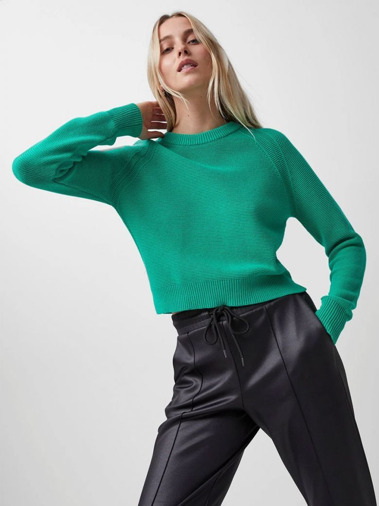 French Connection Palm Green Lilly Mozart Jumper