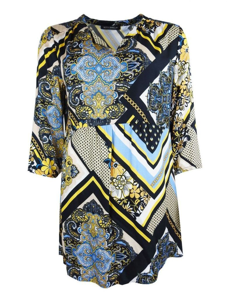 Betty Barclay Floral Abstract Print Smock Dress