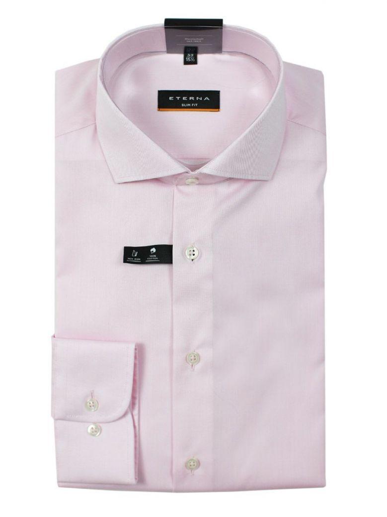 Eterna Pale Pink Slim Fit Shirt
