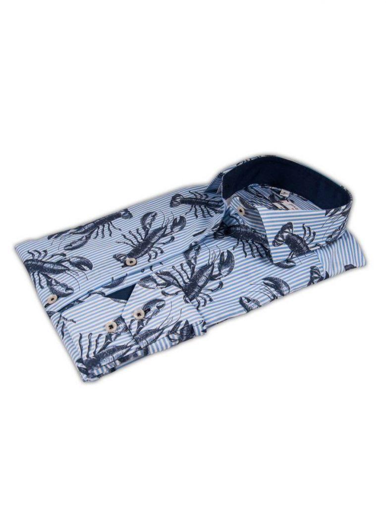GIORDANO Blue Modern Fit Shirt