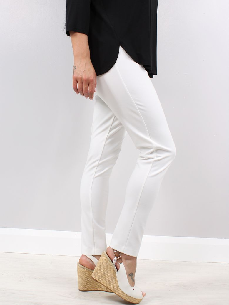 Q'Neel Cream Elastic Waist Trousers