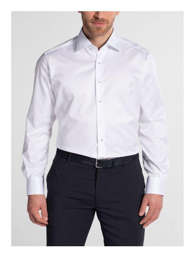 Eterna White Modern Fit Twill Shirt