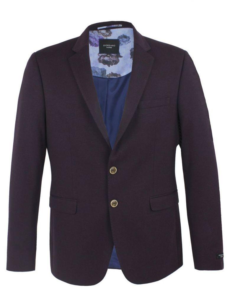 Giordano Burgundy Tailored Fit Blazer