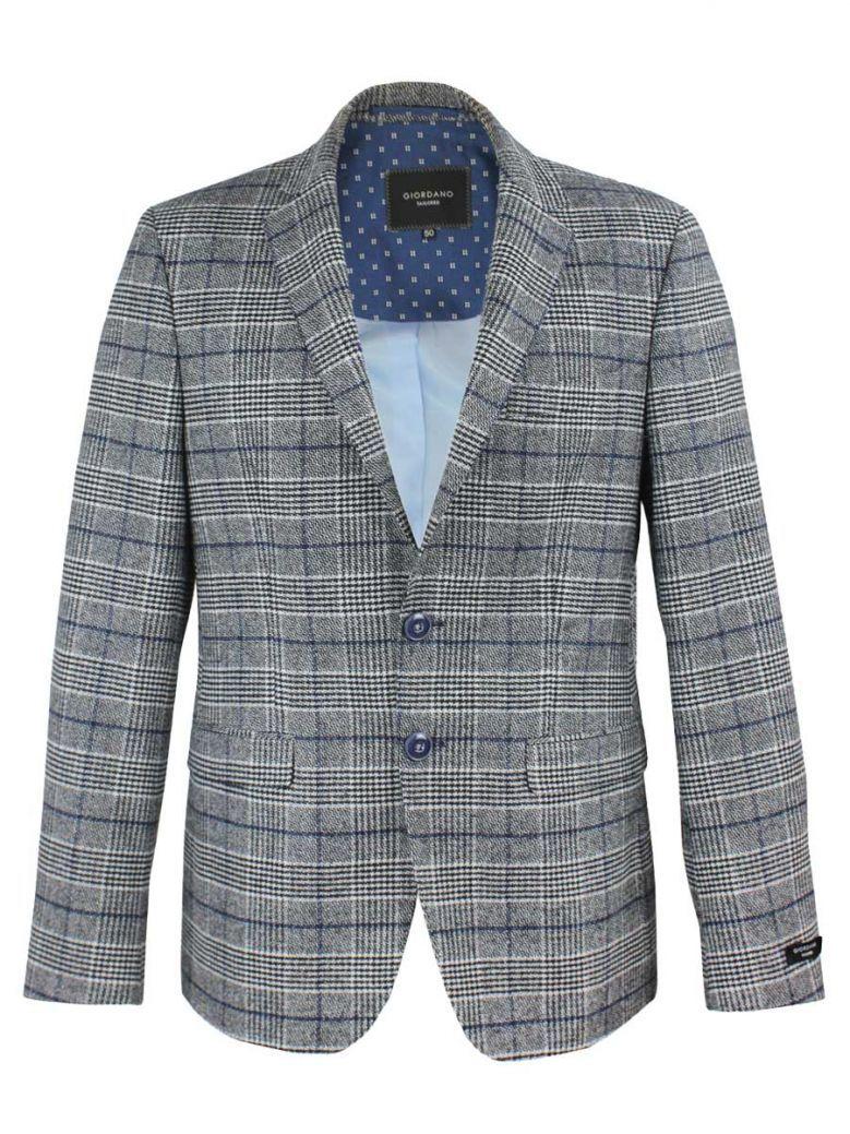Giordano Charcoal Grey Check Blazer