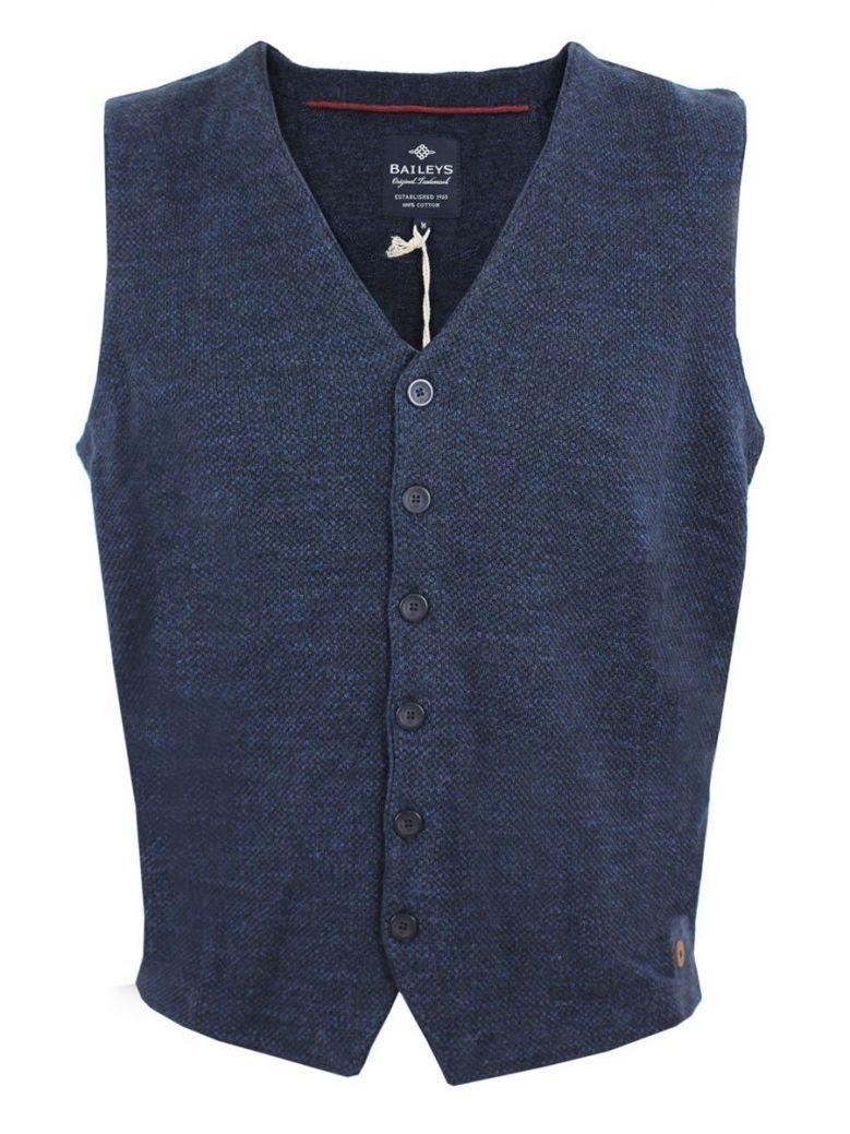 Baileys Navy Blue Knit Gilet