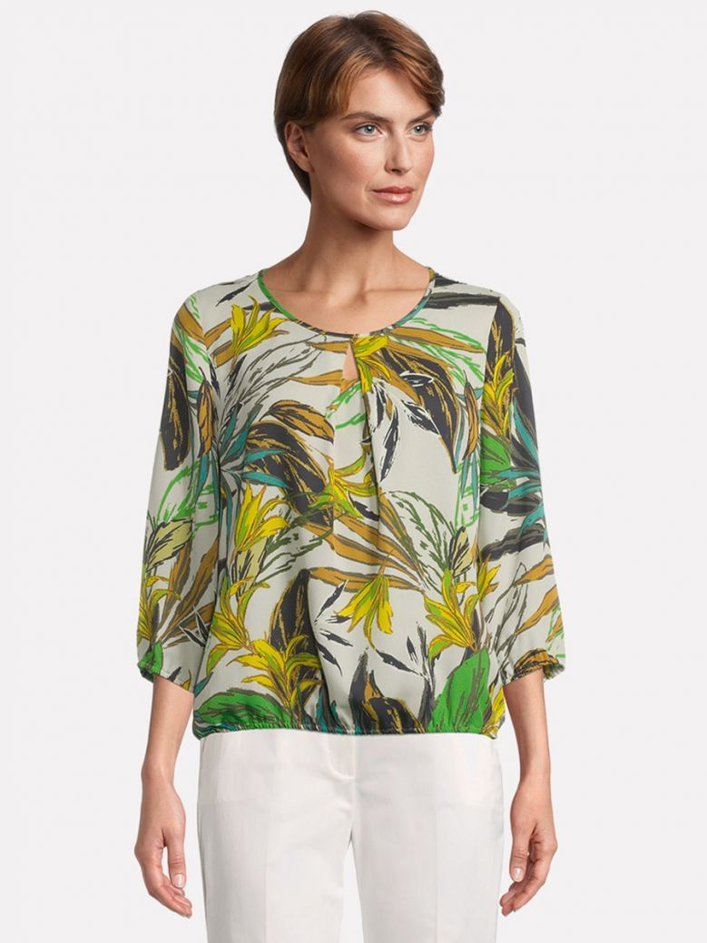 Betty Barclay Green Blouse with Floral Print