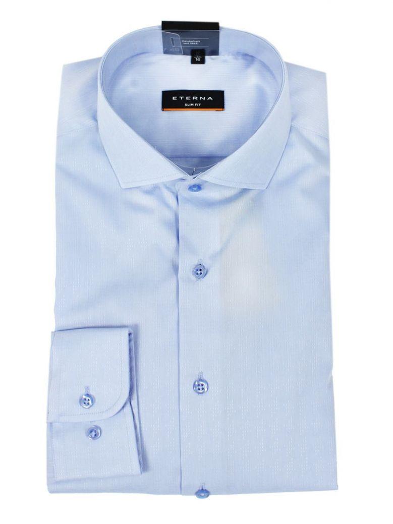 Eterna Blue Slim Fit Shirt
