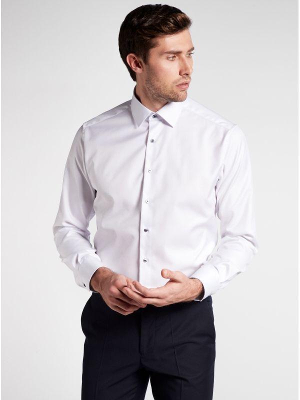 Eterna White Modern Fit Shirt