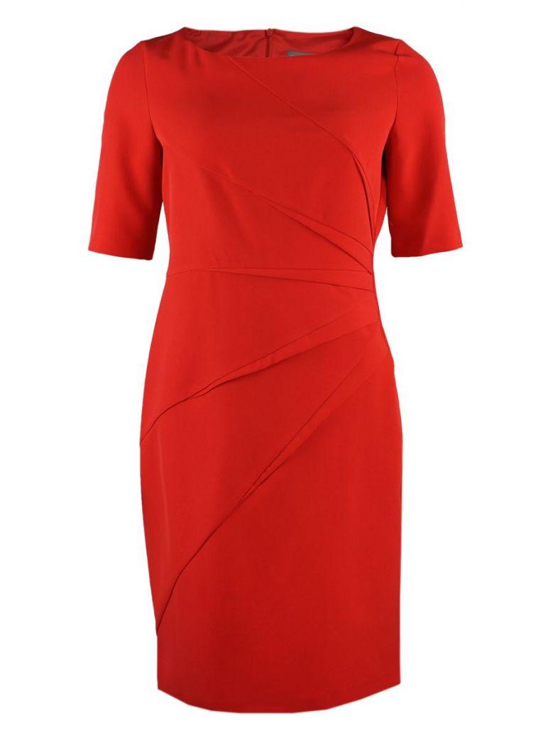 Michaela Louisa Coral Pleated Detail Dress