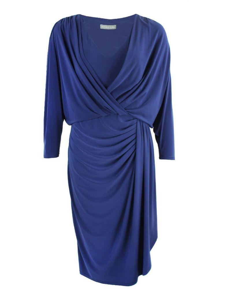 Michaela Louisa Indigo Gathered Detail Dress