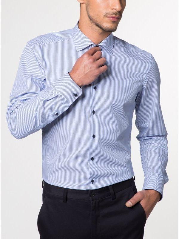 Eterna Blue Stripe Modern Fit Shirt