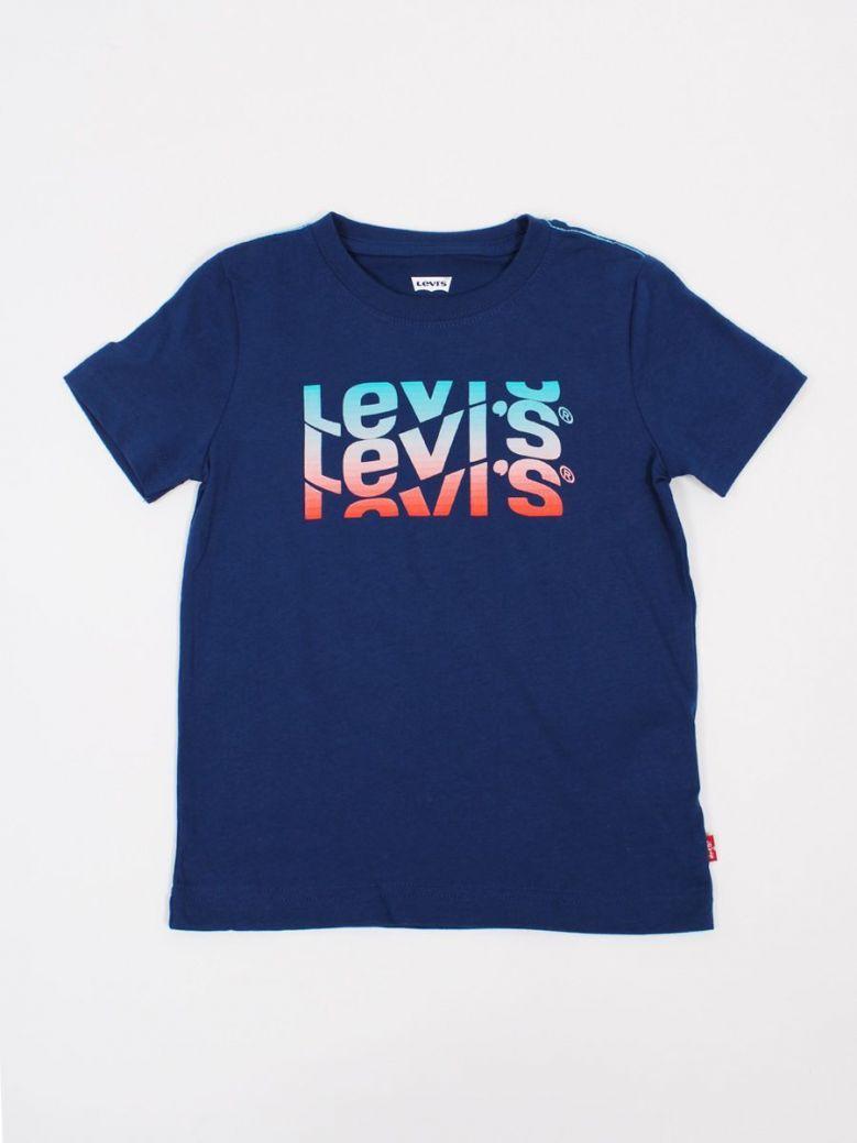 Levi's Kids Wavey Logo T-Shirt Blue