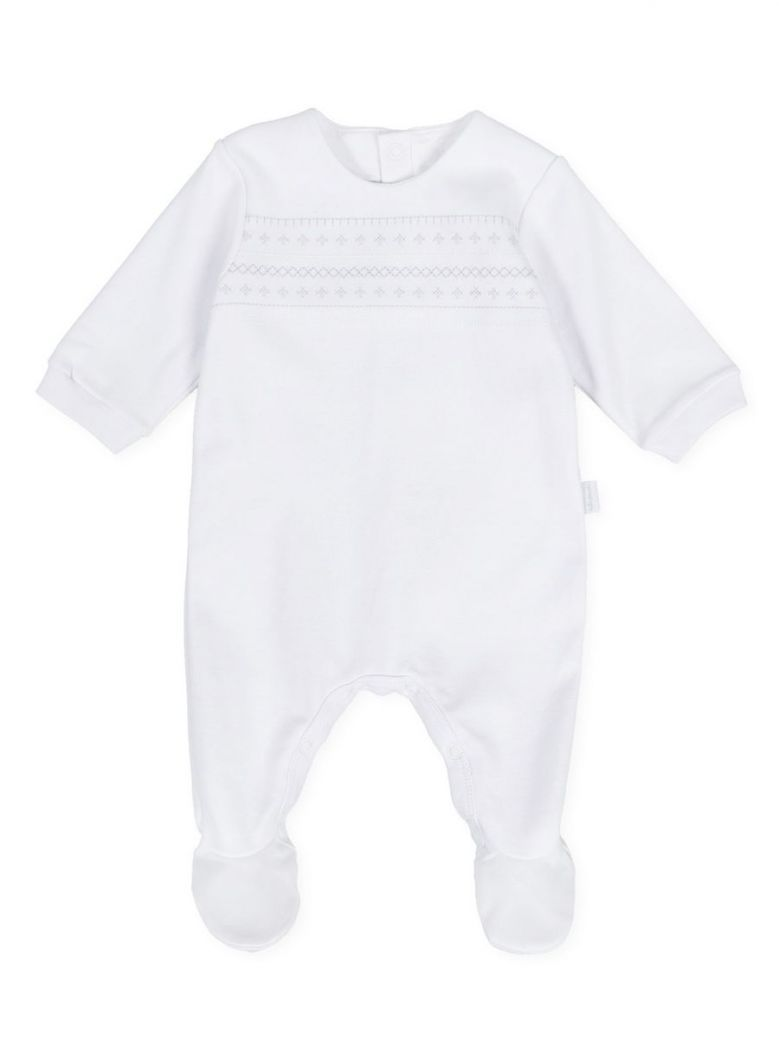 Tutto Piccolo White Embroidered Babygrow
