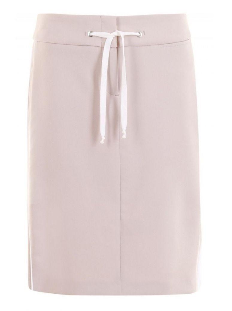 Bianca Beige & Cream Stripe Drawstring Skirt