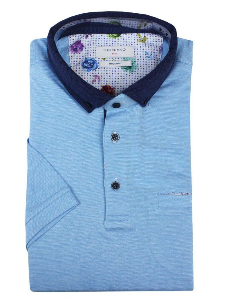 Giordano Blue and Navy Polo Shirt