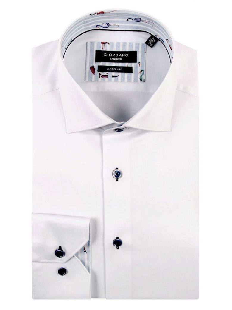 Giordano White Long Sleeve Formal Modern Fit Shirt
