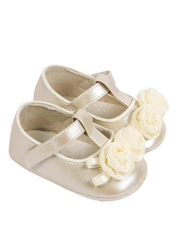 Mayoral Natural Floral Mary Jane Shoes