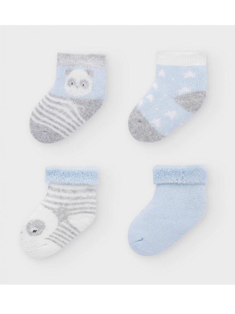 Mayoral Set of 4 Blue Socks for Newborn