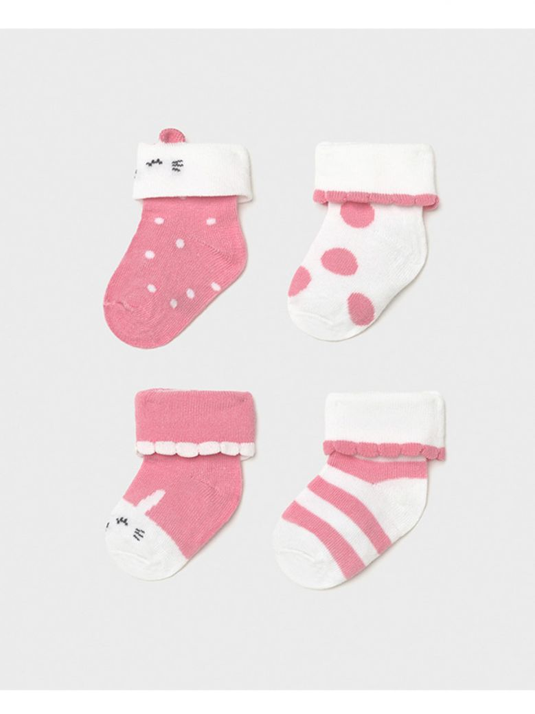 Mayoral Pink 4 Pack Socks