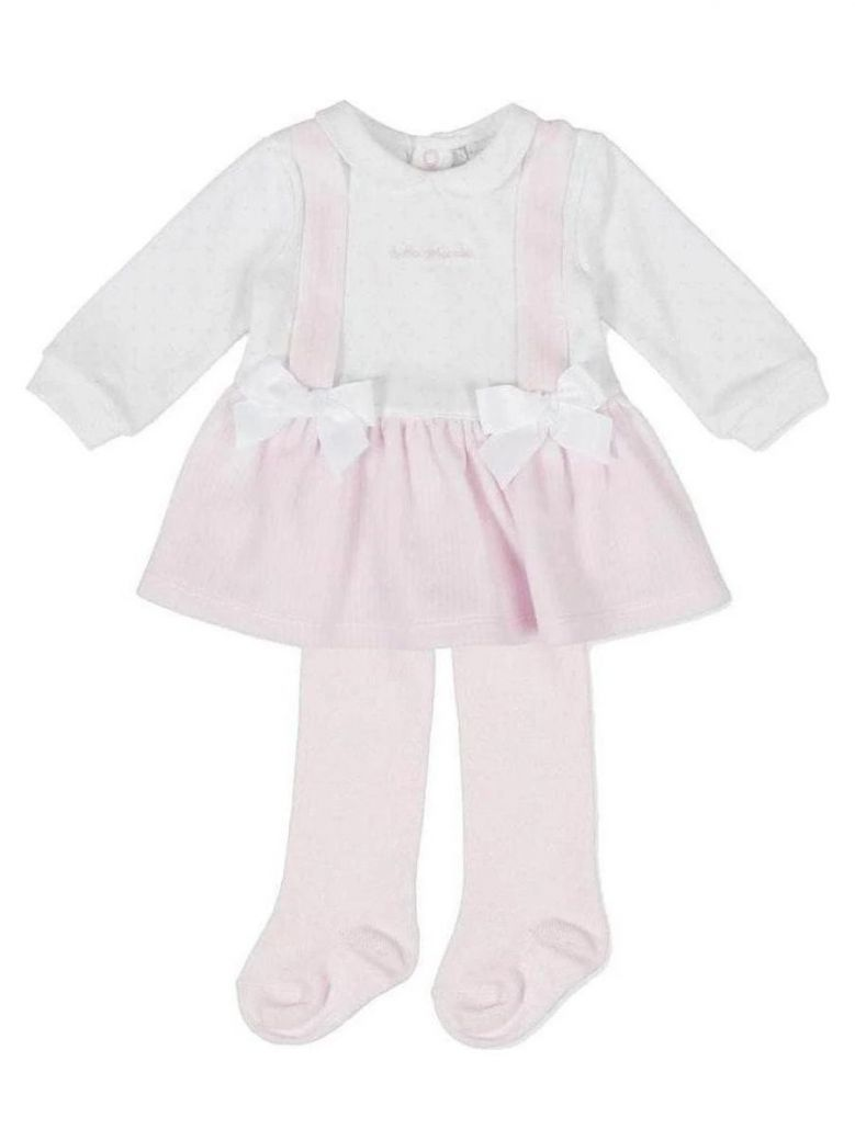 Tutto Piccolo Pink Pinafore Style Dress and Tights