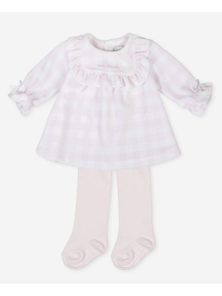 Tutto Piccolo Pink Checked Dress and Tights