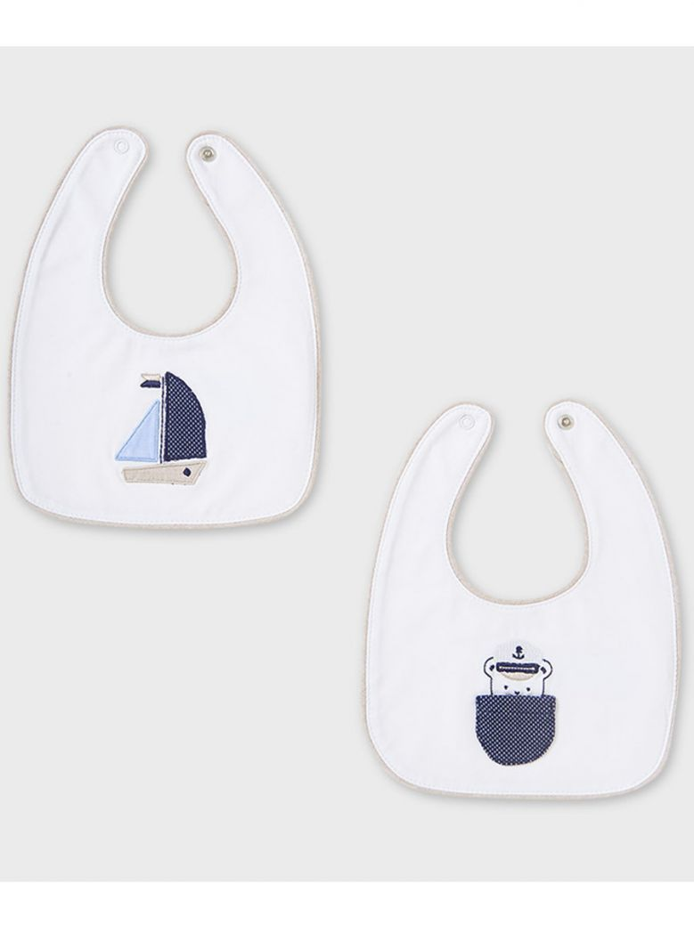 Mayoral Nautical Themed 2 Pack Bibs in Gift Box