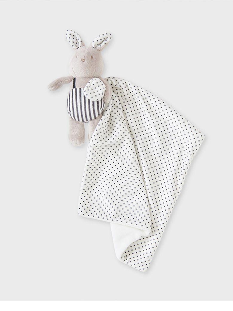 Mayoral Stripe/Dot Baby Boy Comforter in Gift Box