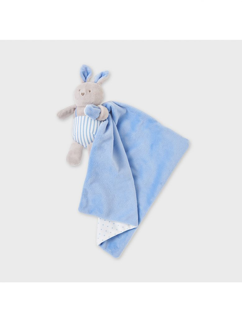 Mayoral Blue Baby Bunny Comforter in Gift Box