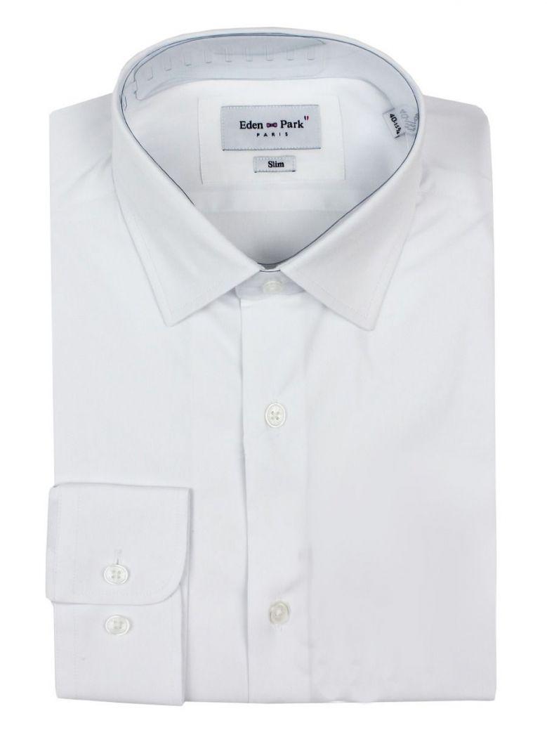 Eden Park White Slim Fit Stretch Shirt