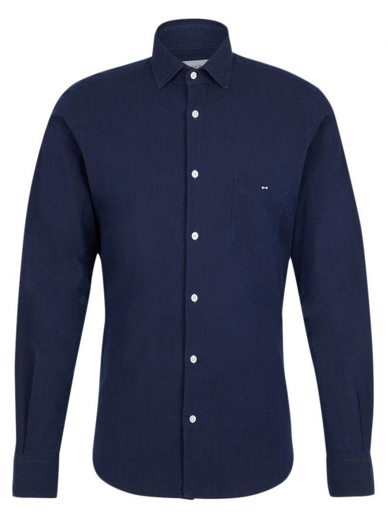 Eden Park Navy Blue Slim Fit Cotton Shirt