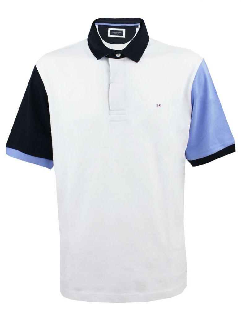 Eden Park White Contrast Polo Shirt