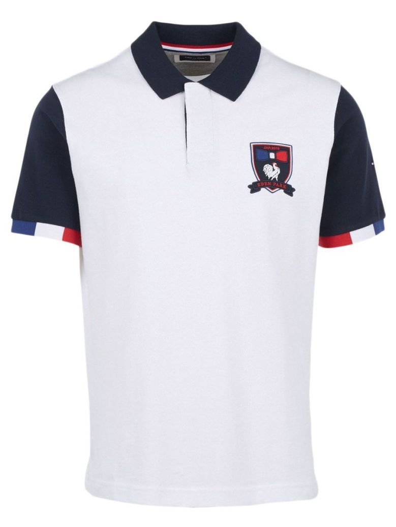 Eden Park White Rugby World Cup Cotton Polo Shirt