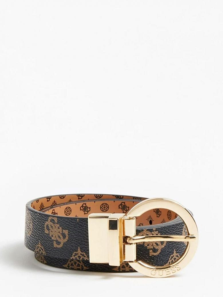 Guess Cessily Reversible Belt Brown Multi