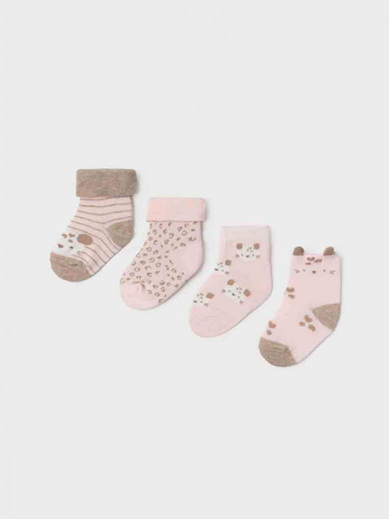 Mayoral Set Of Four Socks For Girl Baby Pink