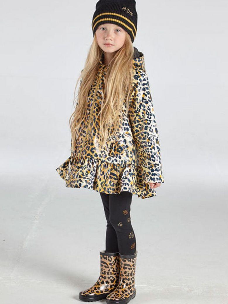 A Dee Leopard Print Raincoat Brown